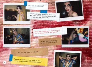 'David Hoyle: Parallel Universe' A photo-book by Holly Revell. Polaroids and quotes.