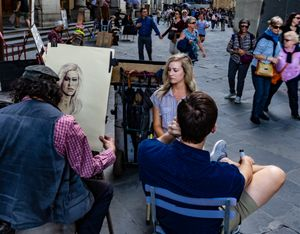 Portrait Artist In Florence, Italy