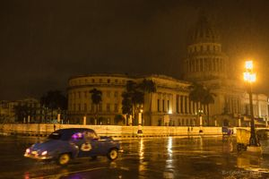 Rainy night in Havana.