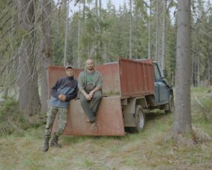 Radu and Codruta at the Dobroneagu Forest Replanting Site. [May, 2018]