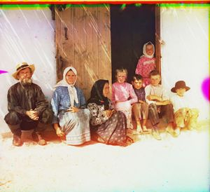 """Settler's Family in Grafovka in Mugan Steppe, Caucasus, between 1905 and 1915 © Sergei Mikhailovich Prokudin-Gorskii, from the book """"Nostalgia"""". Images courtesy US Library of Congress and Gestalten publishers, Berlin."""