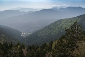 Above Metsovo, Greece, in the Northern Pindos mountains en route to Athens