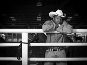James Taylor from Tulsa, OK has been competing as a steer wrestler for twelve years. He was photographed at the Bill Pickett Rodeo in Memphis, TN on March 28, 2015.