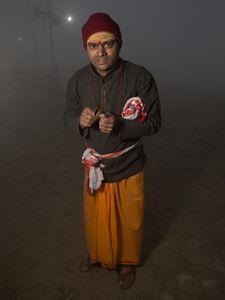 Pilgrim devoted to Brahma