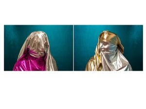 "Metallic Diptych, from the Series ""Cast No Evil"""