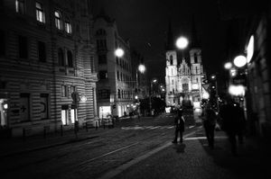 Winter night. Prague.