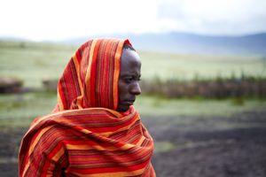 Massai tribesman.