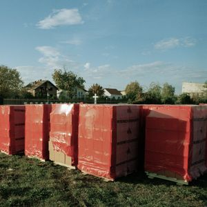 Building blocks in one of the town's cemeteries where some graves had been desecrated. © Colin Dutton