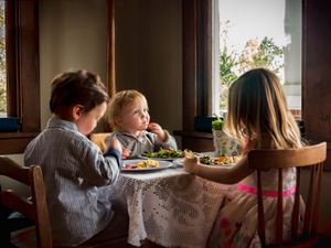 Easter Dinner at the Kids Table