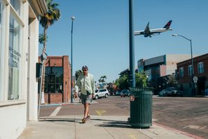 Street scene in Little Italy. San Diego, California.