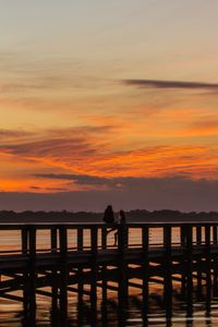 Melbourne Beach Pier at Sunset: Two Admirers