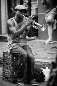 Music on a French Quarter Street