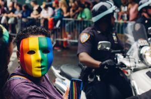 Gay pride behind the mask
