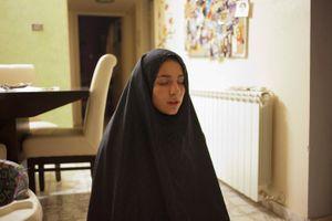 Fadwa, praying during the month of Ramadam, Nablus.