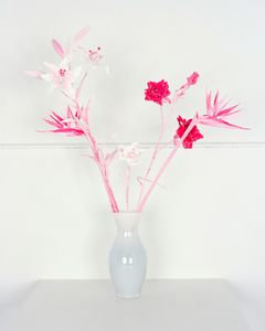 Fake Flowers in Magenta