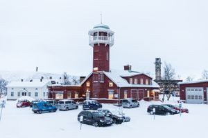 Kiruna's old fire station built in 1910 is one of many buildings that either have to move or disappear.