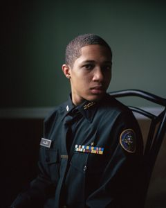 "Sharrod (head shot). From the series ""I slowly watched him disappear"" © Jason Hanasik"