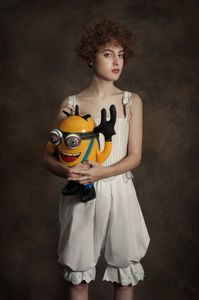 Portrait with a baby minion