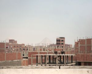 Uncoordinated housing developments, looking toward Giza, Cairo