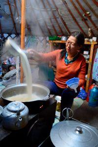 "The preparation of the ""suutei tsai""."