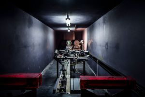 Inside the spectrograph room of the Solar Observatory Einsteintower in Potsdam, Germany.