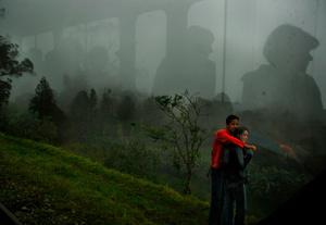Nemocon, panorama view into the train of the sabana.