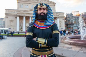 Ahmed - Egypt Soccer Fanatic, World Cup Moscow, Russia 2018