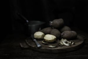 Potatoes and Knife