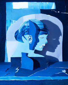 Crescent Eyed Portrait (in Blue), 2012 © Daniel Gordon