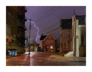 Church Rectory and Lightning, Service Street, Eastside, Detroit 2016