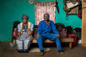 Xolisile Butu with his mother Adelaide - Cofimvaba, South Africa 2015