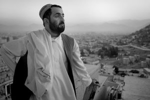 """Haji Mohammad Wazir, age 38, was a fourth-generation grape, pomegranate, and wheat farmer in the Belamby area. On March 11, 2012 he lost eleven family members. From the series """"Silent Night"""" © Lela Ahmadzai"""