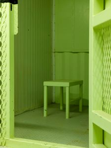 """Camp Delta Stool Cell from """"If The Light Goes Out: Home from Guantanamo"""" © Edmund Clark"""