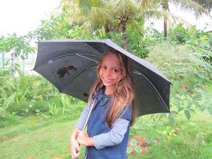 Smile under umbrella