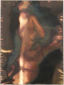 "Untitled [Agfa-Gevaert Portriga-Rapid PRW 118 Soft-White Filigran Semi-Matt Grade 2 Double Weight Paper], 2014, unique silver gelatin chemigram, 7.5""x5.5"""
