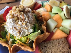 Chicken Salad With Fruit, Frenchy's South Beach Cafe, Clearwater, Fla.
