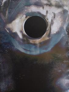 """Black Sun with Ocean Corona,"" Unique Gelatin Silver Print, 2016."