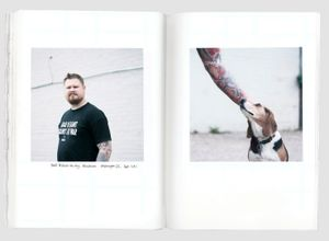 """Geoff Millard and his dog, Resistance. From the photobook """"The Grey Line"""" © Jo Metson Scott"""