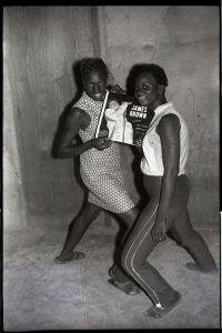 © Malick Sidibé, James Brown fans, 1965, gelatin silver print, 50 x 60 cm. Courtesy of Fifty One Fine Art Photography.