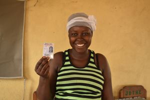 A registered voter
