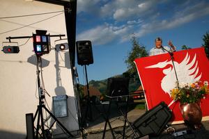 Allocution du syndic lors de la fête nationale; Official speech at Swiss National Day, Crésuz.