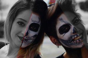 Two Greece's girls in Carnival.