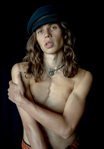 """Pieter in a Black Cap,  Studio,     Atlanta, 2016      """"…to be able to feel where each of the bones meets  the skin - to still be learning how deep the waters of desire can run - to be unafraid of drowning. """"                           -Andrew McMillan, Local Train"""