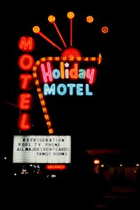 Motel Holiday, Las Vegas, Nevada, 1979. Courtesy of Luïscius.