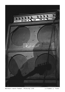 Fender shadow on Marshall stack