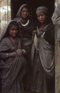 Village girls. Jumla, Nepal. March 1979.