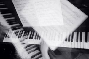 Studying piano #3
