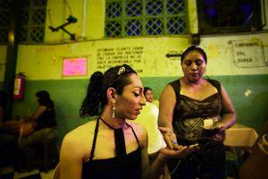Deborah works as a prostitute in a bar in the city of Merida. © Meeri Koutaniemi