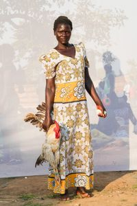A. Nancy: Selling a rooster for 25,000 shillings.