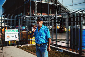 Construction works around Arena Itaquera